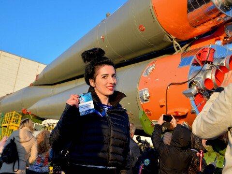 Наши гости во время вывоза ракеты