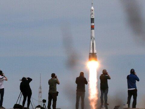Пуск ракеты Союз