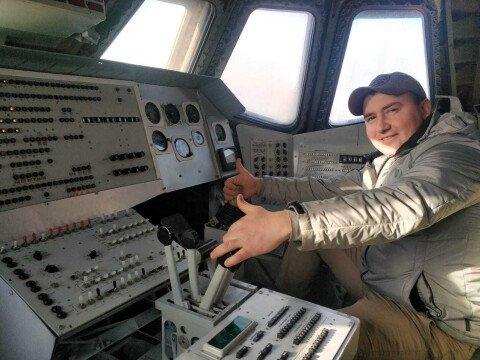 "Внутри кабины корабля ""Буран"""